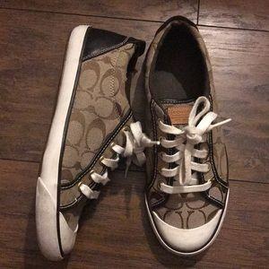 Brown women coach shoes